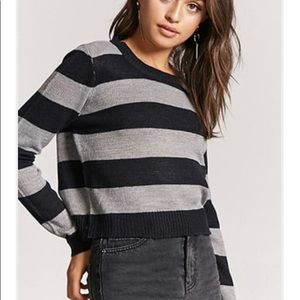 F21 Striped Sweater